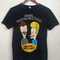 Vintage Mustaches Rule Beavis and Butt-head T-Shirt