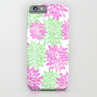 pink and green flowers iPhone & iPod Case by Sylvia Cook Photography