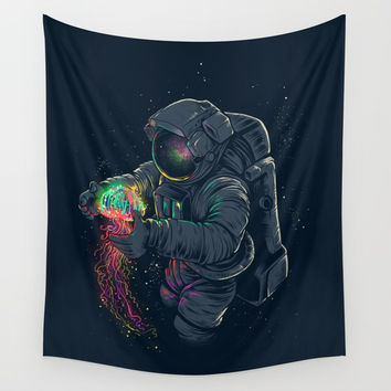 Jellyspace Wall Tapestry by Angoes25