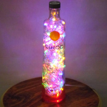 Liquor bottle (Ciroc Peach shown)  LED party light