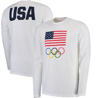 Men's White Team USA Flag and Team Long Sleeve T-Shirt