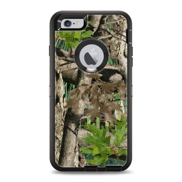 The Vibrant Real Woods Camouflage Apple iPhone 6 Otterbox Defender Case Skin