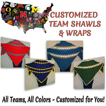 College Football Team Shawls Wraps Ponchos Capes Gift for Her Gift for Him Team Sports College Football Holiday Gift Christmas Gift Birthday