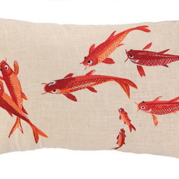 Orange Koi Fish Pillow