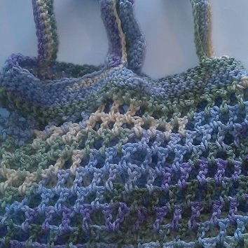 Crochet Purple/Green/Yellow Market Bag/Boho/Hobo Bag/Tote/Summer Beach Bag/Beach Tote/Spring Bag/Summer Tote/Spring Tote/EcoFriendly