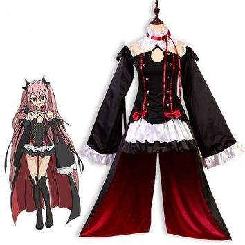 Anime Seraph Of The End Owari no Seraph Krul Tepes Uniform Cosplay Costume Full Set Dress Outfit Halloween Costumes