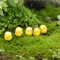 5pcs Mini Yellow Chicken Micro Landscape Fairy Garden Decor Dollhouse Toys DIYHU