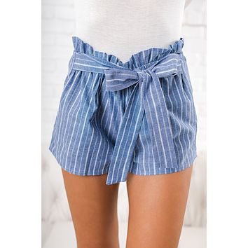 Because You Can Striped Shorts (Denim Blue)