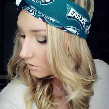 EAGLES Black and White Twist Headband