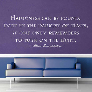 Happiness Can Be Found - Harry Potter Quote - Wall Decal - No 2$19.95