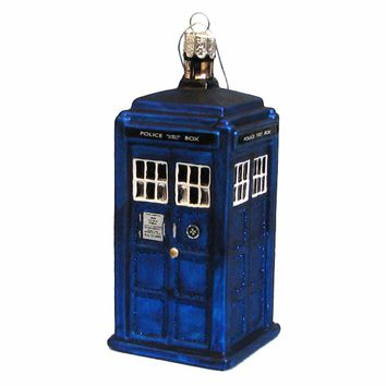 Kurt Adler Doctor Who Tardis Figural Ornament