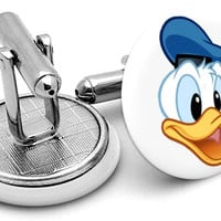 Donald Duck Face Cufflinks