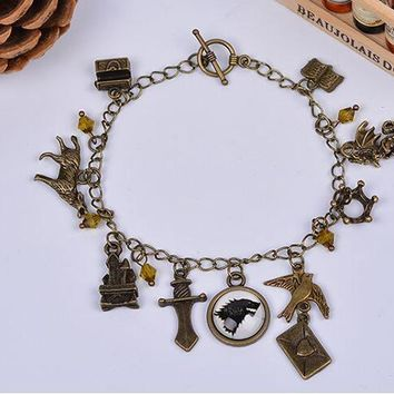 Game of Thrones Sailor Moon Doctor  Vampire Diaries  Go Charm Bracelets Mix Style New Sale Colorful StoneKawaii Pokemon go  AT_89_9
