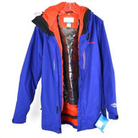 Columbia Sportswear Company NWT Blue / Red 3 in 1 Parka Ski Jacket Puffer P/S