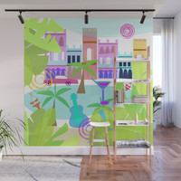 Cuban Holiday Wall Mural by mirimo