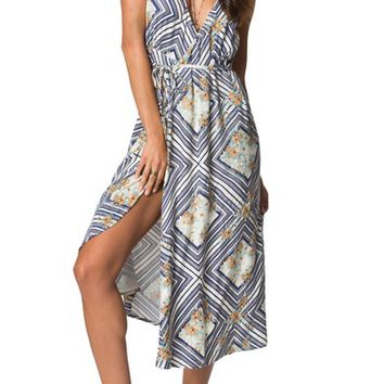 O'Neill Leelee Midi Wrap Dress | Nordstrom
