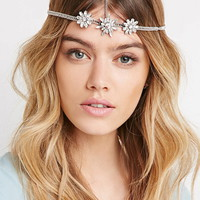 Rhinestone Flower Head Piece