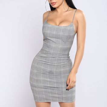 Oops I Did It Again Dress - Grey