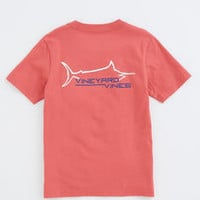 Boys Marlin Line Graphic Pocket T-Shirt