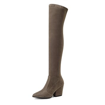 Pointed Toe Tall Boots Winter Shoes for Woman 6761