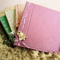 Personalize Lilac Grey Off White Pastel Pink Mulberry Paper Album