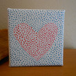 Painting Dot Heart Aboriginal Inspired by Acires on Etsy