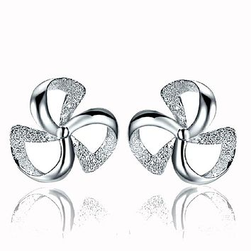 1Pair Women's Clover Of Design Of Stud Earrings