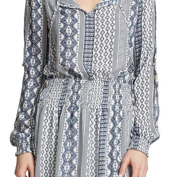 Jack By BB Dakota Blue/White Printed Dress
