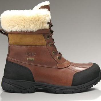 ESBON UGG 5521 Tall Men Fashion Casual Wool Winter Snow Boots Chestnut