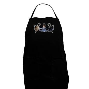 Galaxy Masquerade Mask Dark Adult Apron by TooLoud