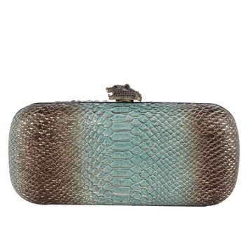 House of Harlow 1960 Adele Snake-Embossed Clutch -