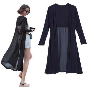 Cardigan Feminino 2019 Ankle Length Sweater Coat Women Knitted Long Sleeve Korean Vintage Black Oversized Sweaters Dress jeaz