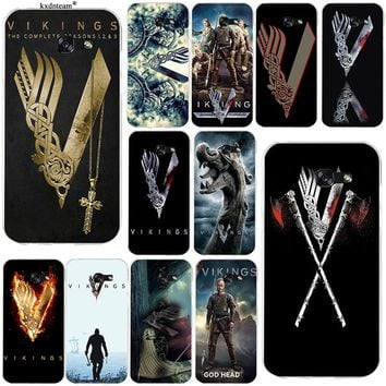 Vikings Ragnar Vikings Logo Soft TPU Silicon Phone Case for Samsung Galaxy Note 2 3 4 5 8 S2 S3 S4 S5 Mini S6 S7 S8 S9 Edge Plus