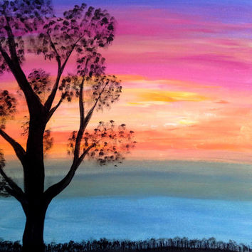 Easy Acrylic Paintings Of Nature