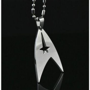 NEW Moive Star Trek Steampunk Series Universe Silver Necklace Women Men Jewelry Pendant Necklaces Non Discolouring