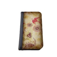 Floral iPhone 5C wallet case MADE IN USA - different designs flip case (Vintage)
