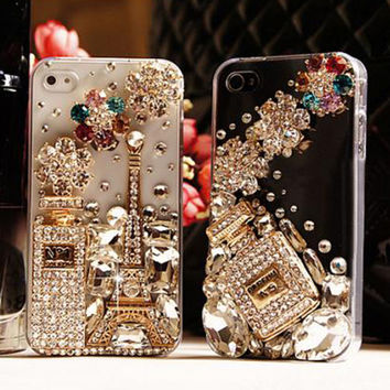 Luxury Diamond Rhinestone coque Case Crystal Bling Cover Funda Capa Carcasa For iPhone 7 7 plus 6 6s Plus 5S 5 se 4 4S 5c 3G 3GS