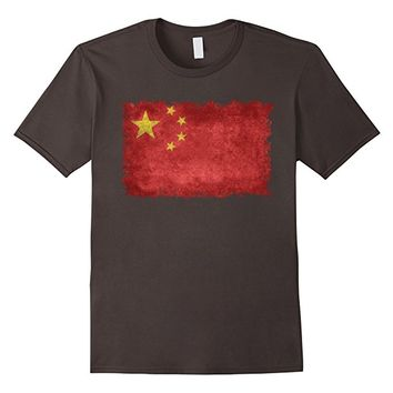 Flag of China T-Shirt in Vintage Retro Style