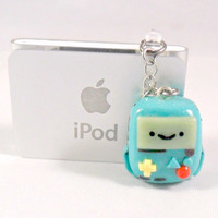 BMO (Beemo from Adventure Time) Chibi Phone Charm, Dust Plug, or Cell Phone Strap, iPhone, iPod :)