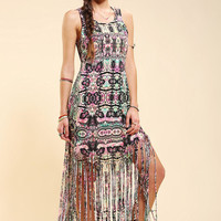 MINKPINK Ashram Fringed Maxi Dress