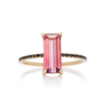 18K Gold, Tourmaline And Black Diamond Ring | Moda Operandi