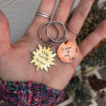 My Sun And Stars & Moon Of My Life Keychains - Set of Two
