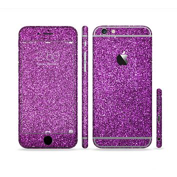 The Purple Glitter Ultra Metallic Sectioned Skin Series for the Apple iPhone 6 Plus