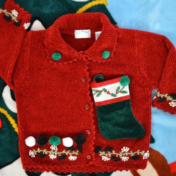 2t Ugly Christmas Sweater, kids, toddlers, girls, stocking, 24 months