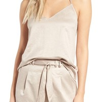 Leith Satin T-Back Camisole | Nordstrom