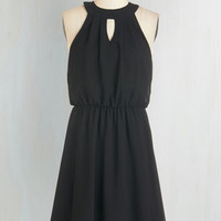 LBD Mid-length A-line City Sway Dress in Black