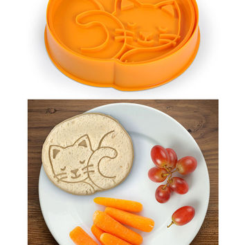 Purebreads Cat Bread Cutter Stamp