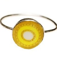 spot on designs What Up Yellow Ring, handmade gifts, handmade handbags, handcrafted jewelry, handmade jewelry, designer clothing, designer products