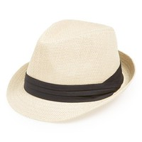 Junior Women's BP. Woven Fedora - Brown