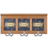Blue Marble Art Deco Snowflakes Print Coat Rack
